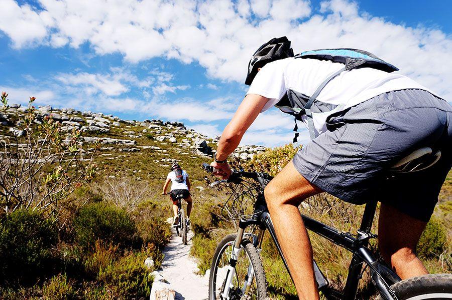 na rowerach po górach