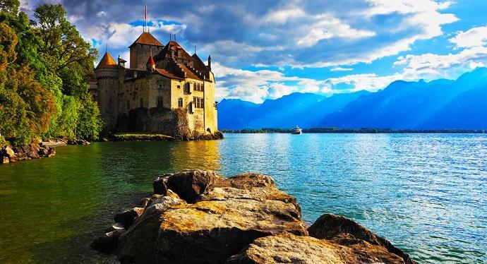 Zamki Europy - Chillon, Szwajcaria