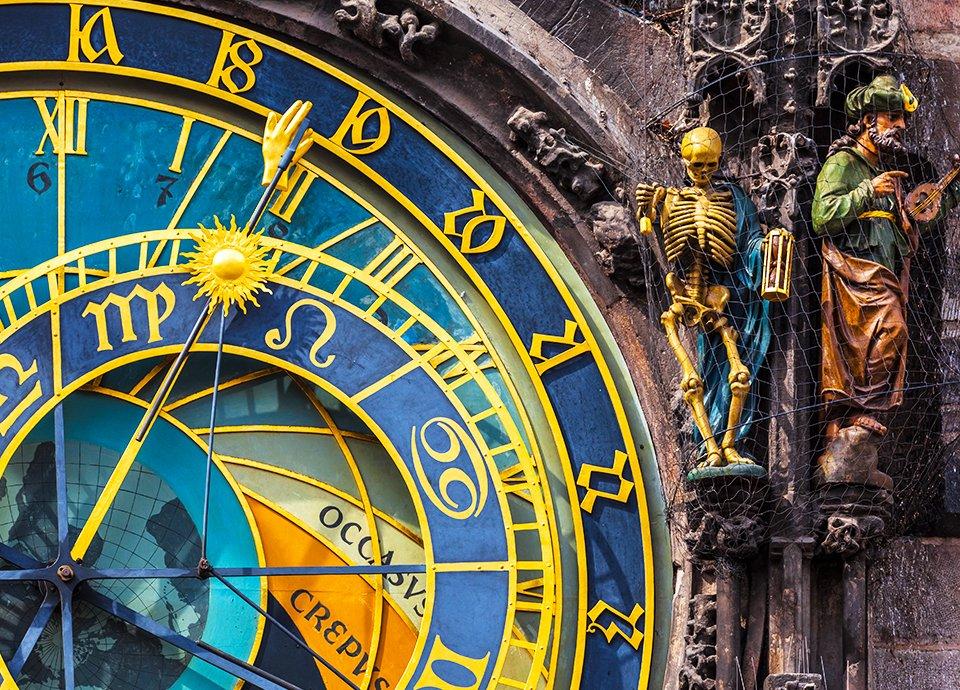 Złota Praga - zegar