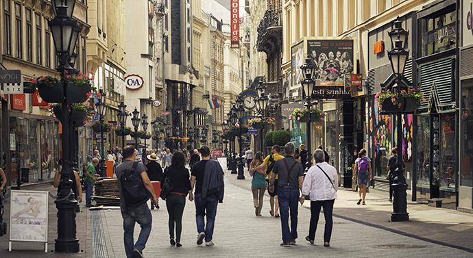 Budapeszt - główna ulica