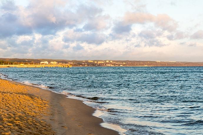 Molo Brzeźno plaża