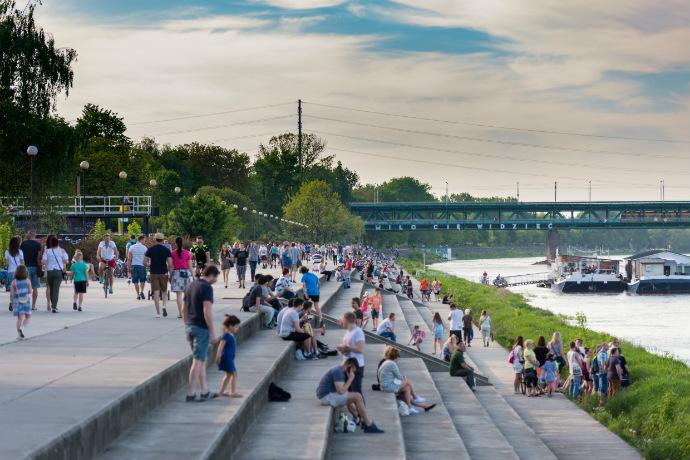 Najlepsze parki w Polsce - Bulwary wiślane w Warszawie