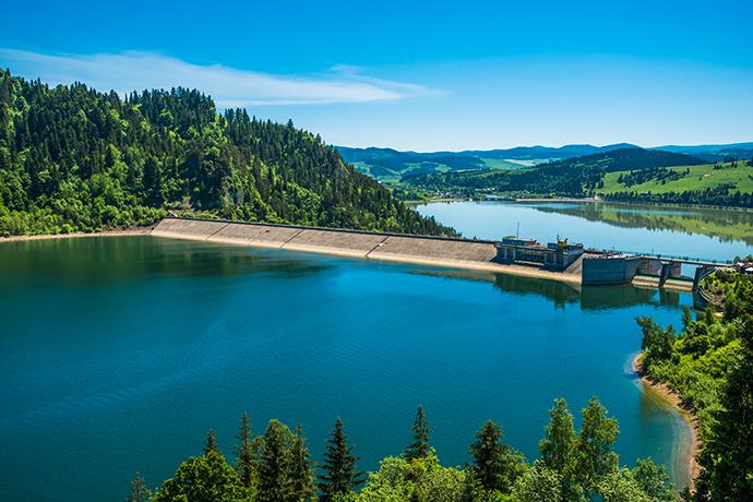 Górskie jeziora - Jezioro Czorsztyńskie