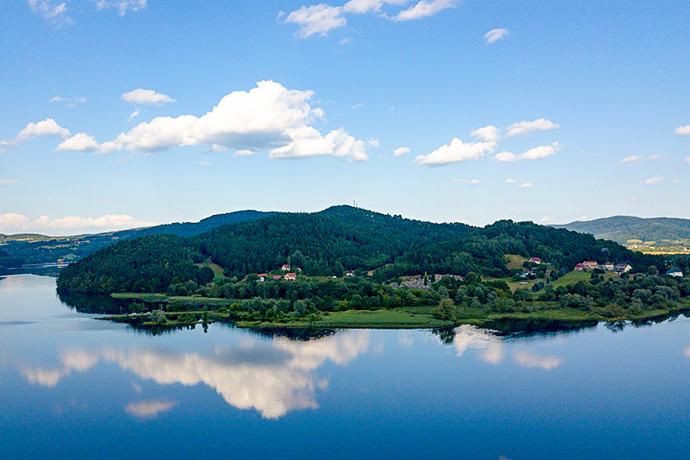 Górskie jeziora - Jezioro Rożnowskie