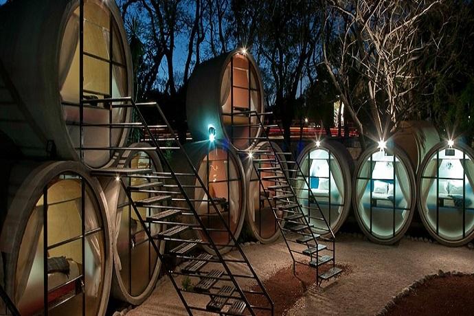 Najdziwniejsze hotele na świecie - Tubhotel, Meksyk