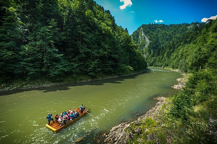 Niezwykłe atrakcje wodne w Polsce - przełom Dunajca