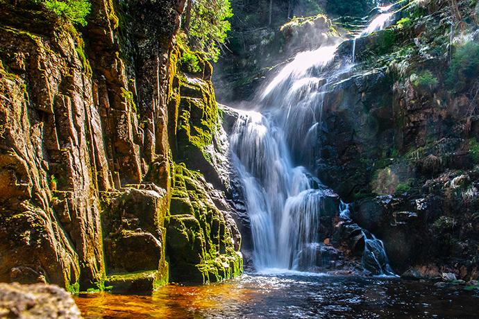 Największe atrakcje Karkonoszy - wodospad Kamieńczyk