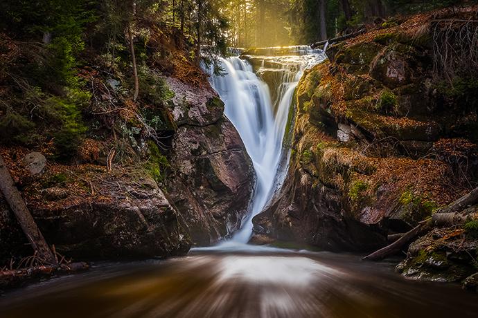 Największe atrakcje Karkonoszy - wodospad Szklarki