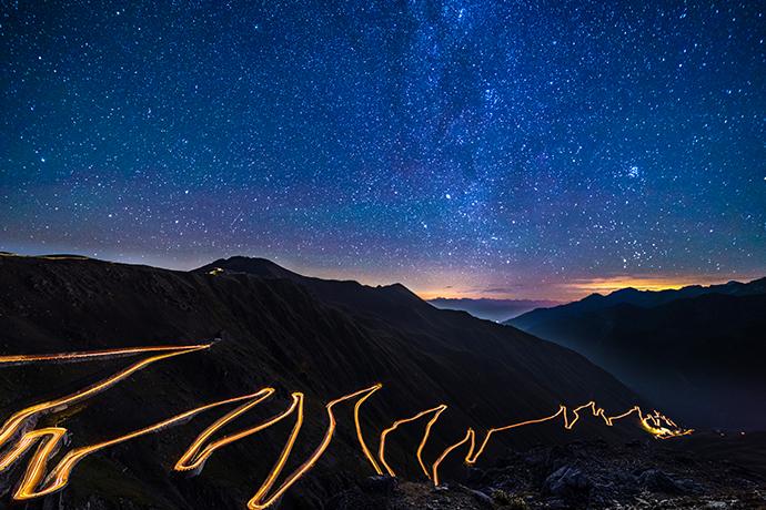 Włoskie Alpy - przełęcz Stelvio