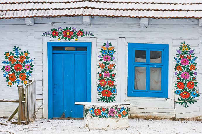 Najbardziej kolorowe miejsca w Polsce - Zalipie