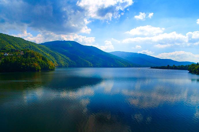 Górskie jeziora - Jezieoro Międzybrodzkie